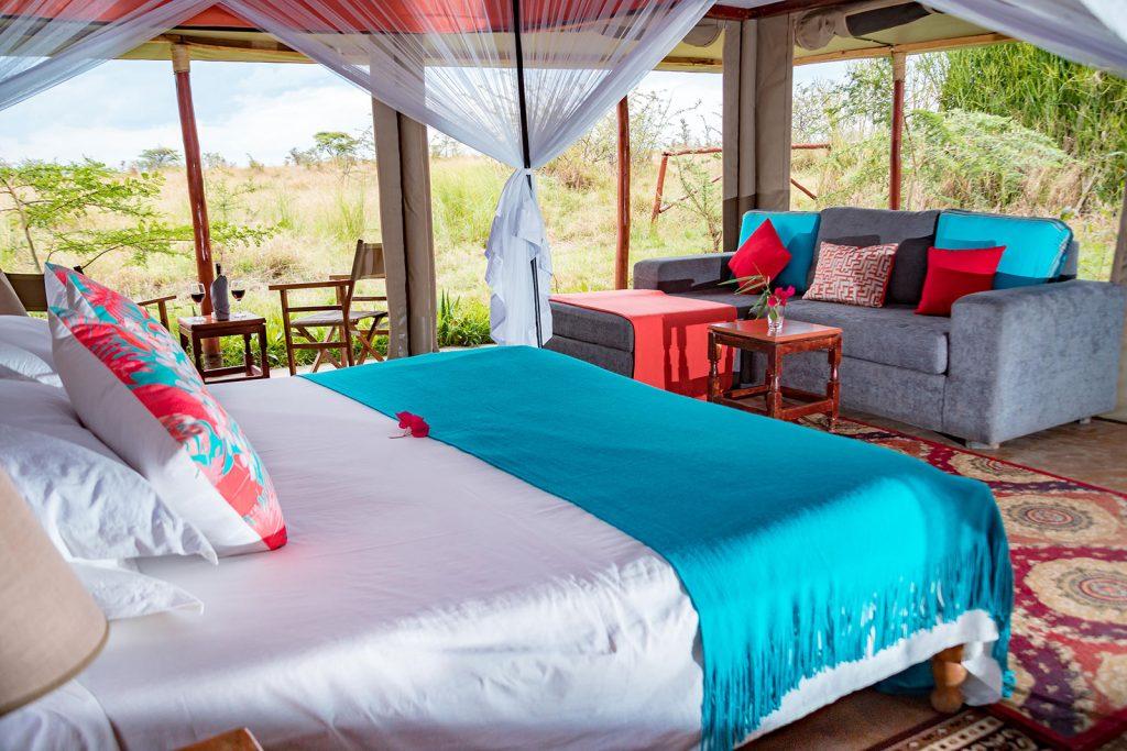 Camp para turistas de safari en Kenia